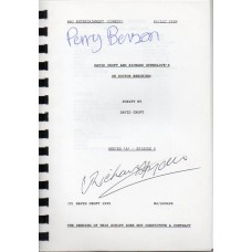 Oh Doctor Beeching - Original Script - Signed By Perry Benson & Richard Spendlove - Genuine - AFTAL - 6