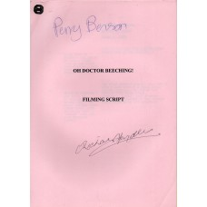 Oh Doctor Beeching - Original Script - Signed By Perry Benson & Richard Spendlove - Genuine - AFTAL - 8