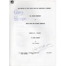 Oh Doctor Beeching - Original Script - Signed By Perry Benson & Richard Spendlove - Genuine - AFTAL - 10