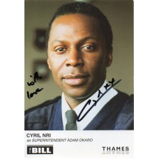 Cyril Nri Autograph - The Bill - Signed 6x4 Cast Card 1 - Handsigned - AFTAL