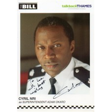 Cyril Nri Autograph - The Bill - Signed 6x4 Cast Card 2 - Handsigned - AFTAL