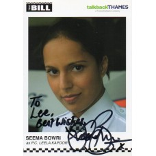 Seema Bowri Autograph - The Bill - Signed 6x4 Cast Card - Handsigned - AFTAL