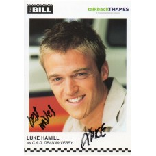 Luke Hamill Autograph - The Bill - Signed 6x4 Cast Card - Handsigned - AFTAL