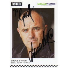 Bruce Byron Autograph - The Bill - Signed 6x4 Cast Card - Handsigned - AFTAL