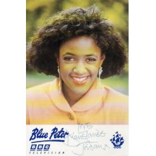 Diane-Louise Jordan Autograph - Blue Peter - Signed 6x4 Cast Card - Handsigned - AFTAL