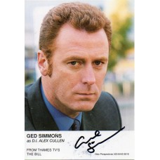 Ged Simmons Autograph - The Bill - Signed 6x4 Cast Card - Handsigned - AFTAL