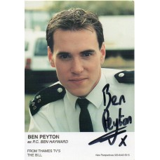 Ben Peyton Autograph - The Bill - Signed 6x4 Cast Card - Handsigned - AFTAL