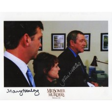 John Nettles and Mary Healey - Midsomer Murders - Signed 10x8 Photo - AFTAL