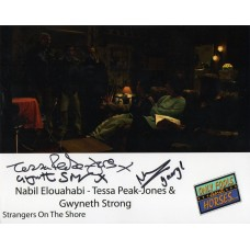 Nabil Elouahabi,Gwyneth Strong and Tessa Peak-Jones - Only Fools and Horses - Signed 10x8 Photo - AFTAL