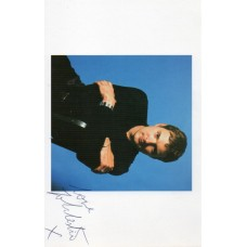 John Leslie Autograph - Blue Peter - This Morning - Signed 6x4 Cast Card - AFTAL