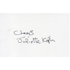 Juliette Kaplan Autograph - Last Of The Summer Wine Signed Card 1 - Handsigned - AFTAL