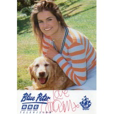Katy Hill Autograph - Blue Peter - Signed 6x4 Cast Card - Handsigned - AFTAL
