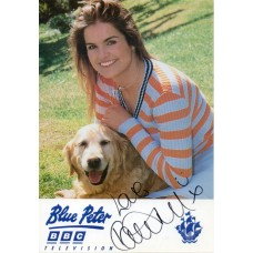 Katy Hill Autograph - Blue Peter - Signed 6x4 Cast Card 4 - Handsigned - AFTAL