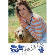 Katy Hill Autograph - Blue Peter - Signed 6x4 Cast Card 5 - Handsigned - AFTAL
