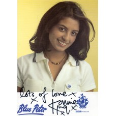 Konnie Huq Autograph - Blue Peter - Signed 6x4 Cast Card 3 - Handsigned - AFTAL