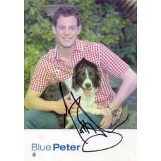 Matt Baker Autograph - Blue Peter - Signed 6x4 Cast Card - Handsigned - AFTAL
