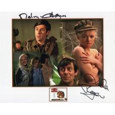Melvyn Hayes and Linda Regan - Carry On - Signed 10x8 Photo 2 - Handsigned -AFTAL