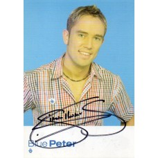 Simon Thomas Autograph - Blue Peter - Signed 6x4 Cast Card - Handsigned - AFTAL