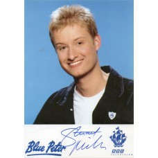 Stuart Miles Autograph - Blue Peter - Signed 6x4 Cast Card 2 - Handsigned - AFTAL