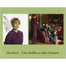 Una Stubbs Autograph - Sherlock - Signed 10x8 Photo - AFTAL